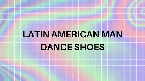 Latin American man dance shoes